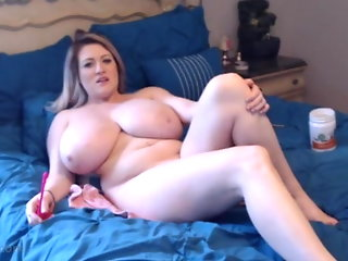 blonde webcam sex toy