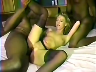 blond interracial group sex
