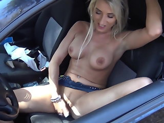 fingering blonde public nudity